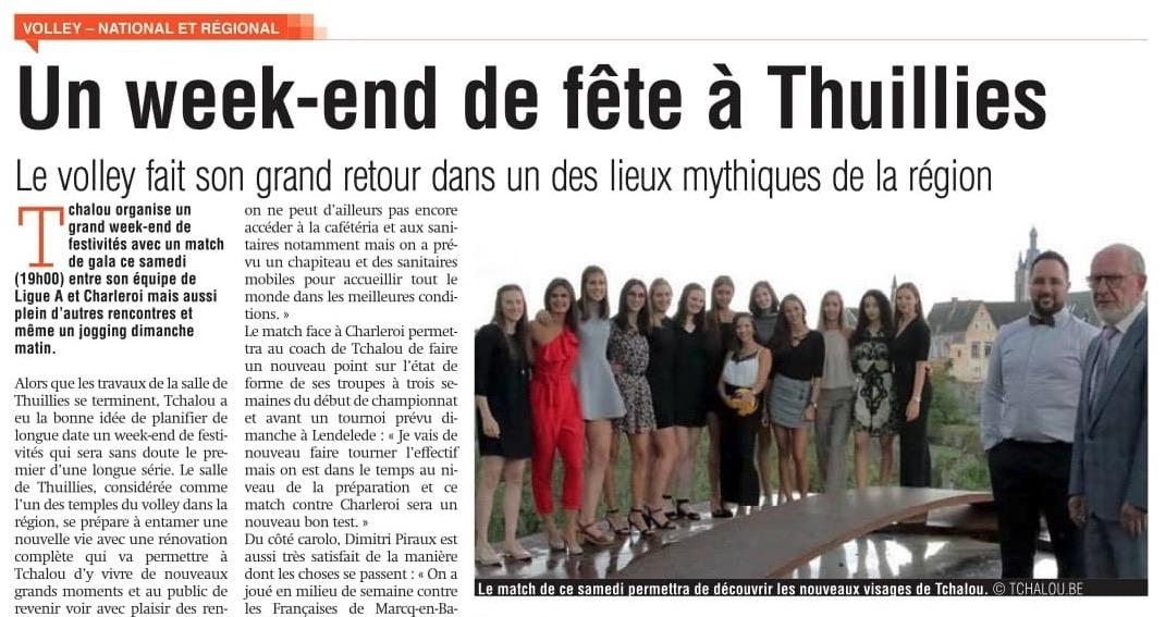 Sudpresse : Un week-end de fête à Thuillies