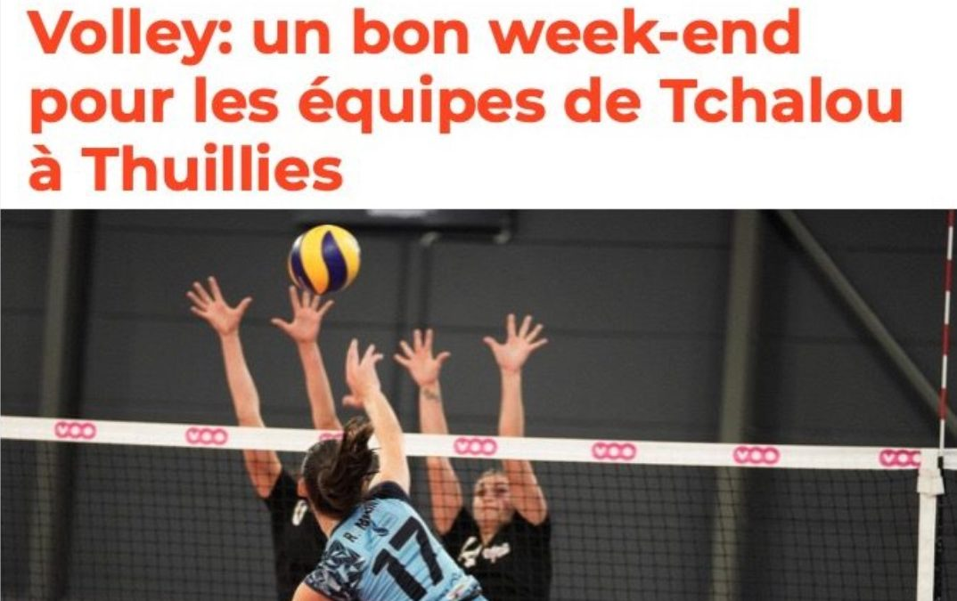 La meuse.be – Un bon week-end pour les équipes de Tchalou à Thuillies
