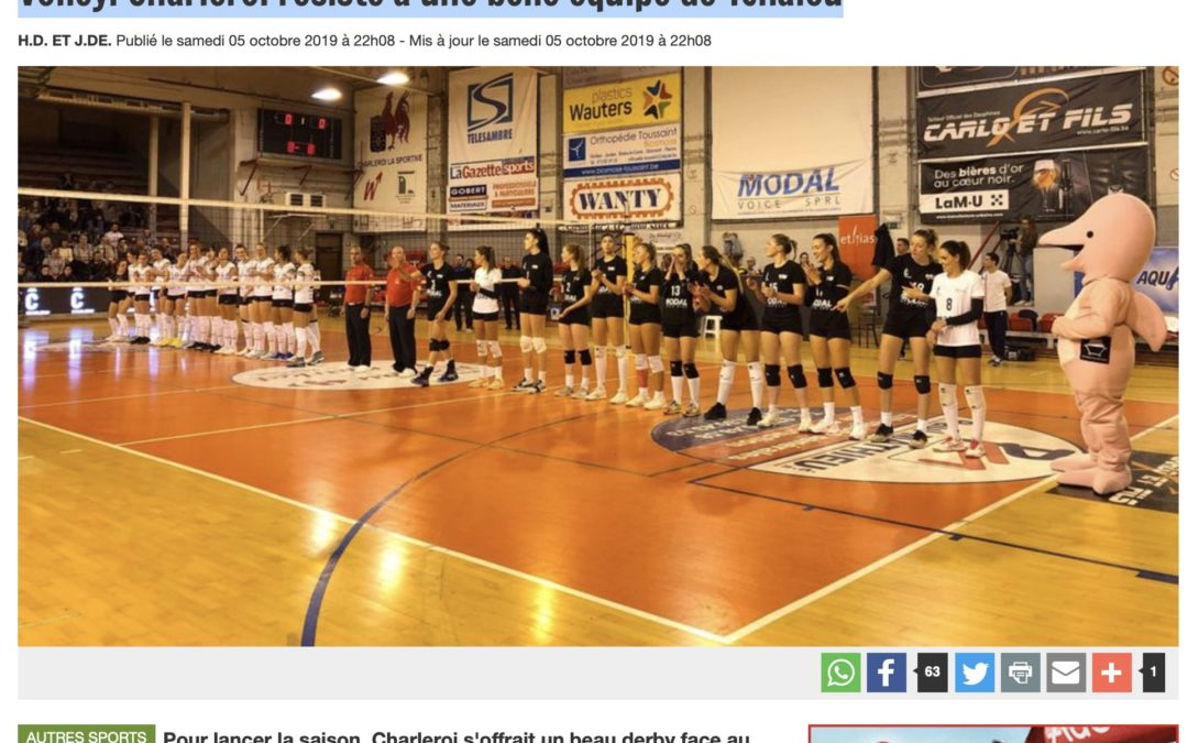Charleroi résiste à une belle équipe de Tchalou